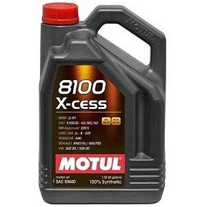 8100 5w40 Óleo Motul X-cess 100% Sintético Galão 4 Litros