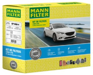 MANN SP1060-4 Kit Filtro Ar Cabine Óleo Combustível Onix E Prisma