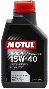Motul 2100 Óleo Motor 15w40 Performance 1l Semissintético