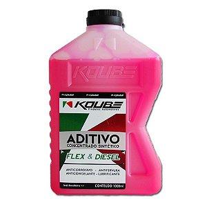 Koube Rosa Aditivo Concentrado Sintético Para Radiador 1 Ano ou 20.000km