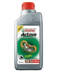 20w50 Semissintético Castrol Actevo 4T API SL JASO MA2