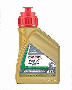 Fork Oil 10w Castrol Sintético Para Motos 10w 100% Sintético