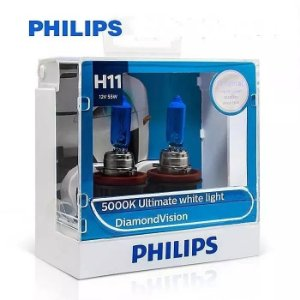 Philips H11 Diamond Vision 5000k Lâmpada Original