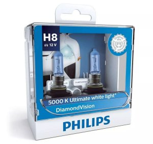 Philips H8 Diamond Vision 5000k Lâmpada