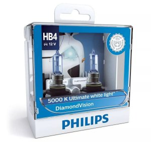 Philips HB4 Diamond Vision 5000k Lâmpada Original