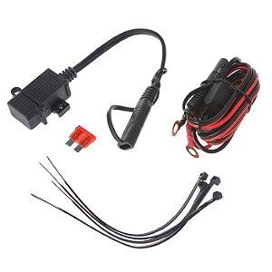 Carregador USB Moto e Carro 12V C/ Fusível Smartphone E GPS Tomada