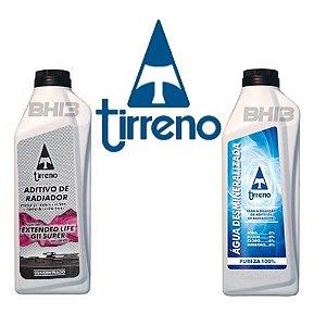 Aditivo Radiador Tirreno Orgânico Original Concentrado Coolant Extended Life GII Super Água Desmineralizada Tirreno
