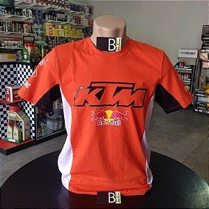 Camisa KTM Red Bull Racing Camiseta Em Algodão Ref.191