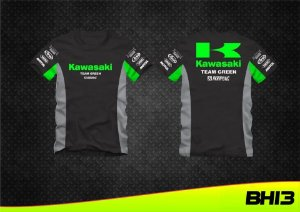 Camisa Kawasaki Team Green Racing Camiseta Algodão Ref.264
