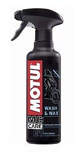 Motul Wash & Wax E1 Mc Care Lavagem A Seco Para Motos