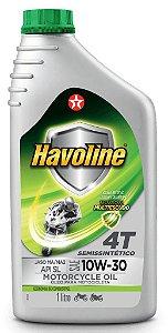 Óleo Motor Havoline 4T Semissintético 10w30 Texaco API Sl JASO MA/MA2