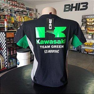 Baby Look Kawasaki Team Green Racing Feminina Ref.257
