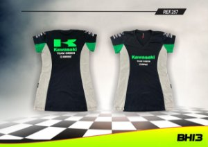 Baby Look Kawasaki Team Green Racing Feminina Ref.257