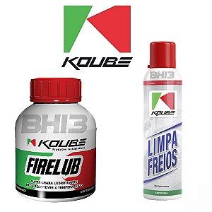 Combo Koube Limpa Freios Koube Firelub Graxa Alta Temperatura