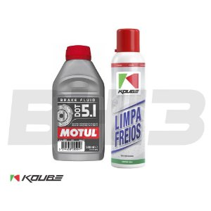 Kit Koube Limpa Freios + Motul Dot 5.1