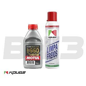 Kit Koube Limpa Freios + Motul Rbf660