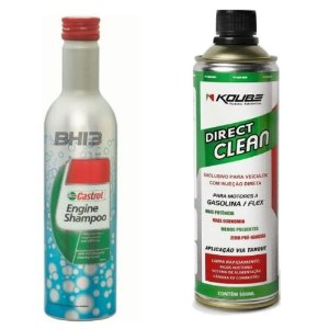 Shampoo Castrol Engine Flushing + Koube Direct Clean