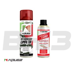Combo Koube Perfect Clean Moto + Descarbonizante Limpa Tbi
