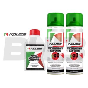 Kit Koube Motor Flush Corretivo + Desc. Slow Drying K90