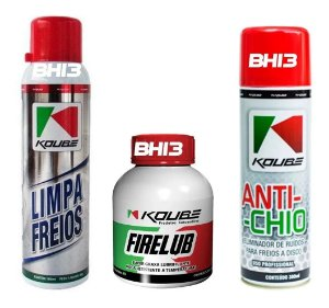 Combo Koube Limpa Freios Firelub Super Graxa Anti-chio