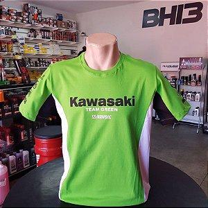 Kawasaki Verde Camisa Team Green Racing Camiseta Algodão Ref.264
