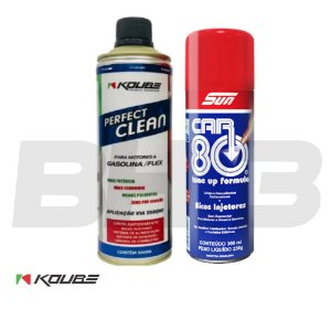 Perfect Clean Koube Flex Gasolina + Car80 Bicos Injetores
