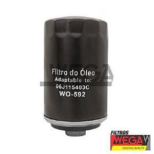 Filtro Óleo Jetta TSI 2.0 200cv  WEGA WO592