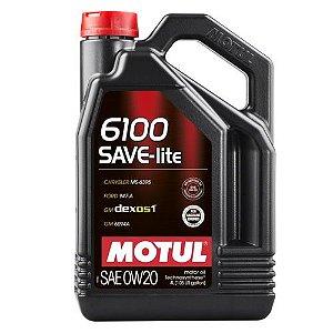 Motul 6100 0w20 Save-lite 100% Sintético Galão Com 4 Litros