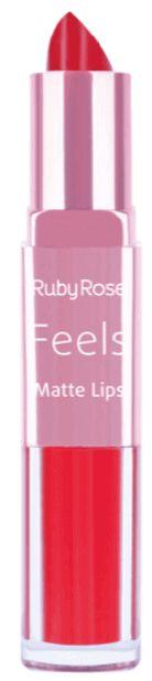 Batom Duo Matt Lips Feels 316 Ruby Rose