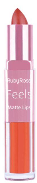 Batom Duo Matt Lips Feels 307 Ruby Rose