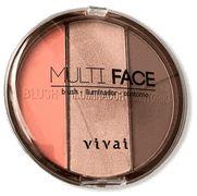 Paleta Contorno Blush Iluminador Multi Face Vivai