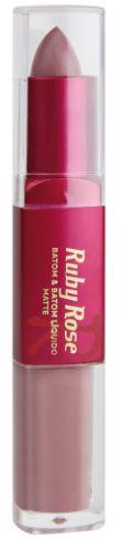 Batom Liquido Matte Ruby Rose HB 8606 COR 286