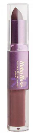 Batom Liquido Matte Ruby Rose HB 8606 Cor 300