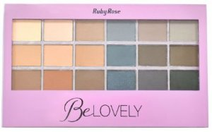 Paleta de Sombra Be Lovely Ruby Rose Lançamento