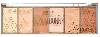 Paleta Iluminador Pocket Beach Bunny Ruby Rose HB 7514