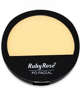 Pó compacto cor 19 facial Ruby Rose cores claras