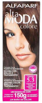 Tinta de cabelo Alta moda N5.3 caramelo 150 gramas