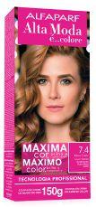 Tinta de cabelo Alta moda N7.4 louro medio acobreado 150 gramas