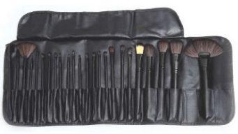 Kit Pincel Beauty Majestic Line Pro Estojo com 24 pinceis profissionais da Master Beauty