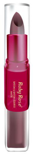 Batom Liquido Matte Ruby Rose HB 8606 Cor 062