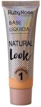 Base líquida cor 1 natural Look Chocolate