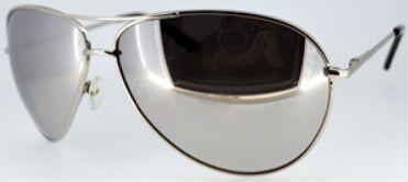 Óculos aviador metal preto lentes espelhadas