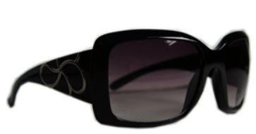 Óculos acetato preto c/ lentes pretas