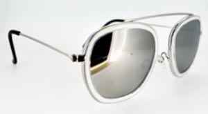 Óculos espelhado metal preto