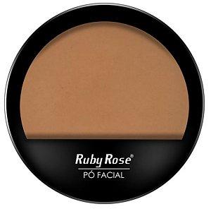 Pó compacto cor 15 facial Ruby Rose cores claras