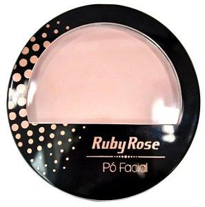 Pó facial cor 20 Ruby Rose com espelho