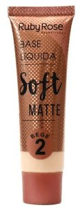 Base líquida cor 2 Soft Matte Bege Ruby Rose