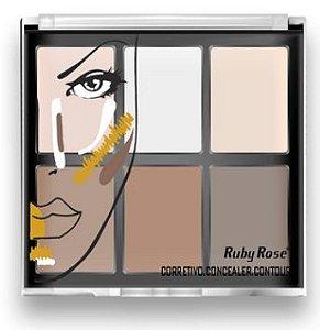 Corretivo Concealer Contour Ruby Rose HB 8088 Fair (Kit com 03 unidades) Atacado