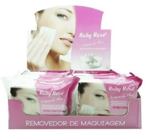 Lenço Demaquilante Removedor de Maquiagem Ruby Rose Atacado Kit com 03 peças