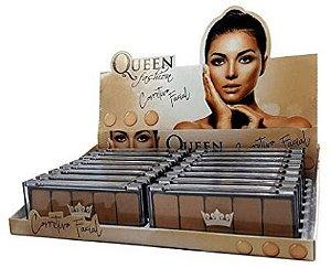 Paleta de Corretivo Facial 05 cores Queen (Caixa com 16 unidades) Atacado
